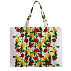 Rose Pattern Roses Background Image Zipper Mini Tote Bag