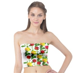 Rose Pattern Roses Background Image Tube Top