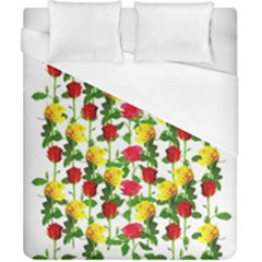 Rose Pattern Roses Background Image Duvet Cover (california King Size)