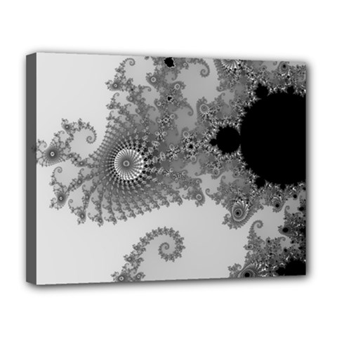 Apple Males Mandelbrot Abstract Canvas 14  X 11