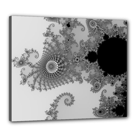 Apple Males Mandelbrot Abstract Canvas 24  X 20  by Nexatart