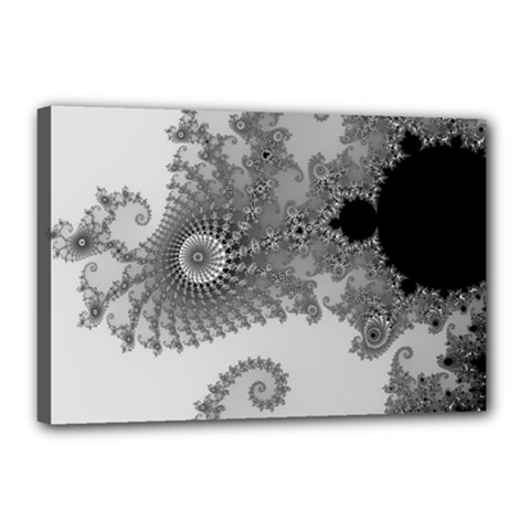 Apple Males Mandelbrot Abstract Canvas 18  X 12  by Nexatart