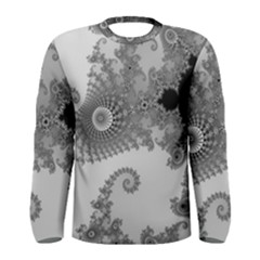Apple Males Mandelbrot Abstract Men s Long Sleeve Tee