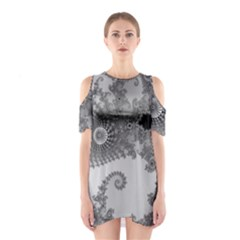 Apple Males Mandelbrot Abstract Shoulder Cutout One Piece