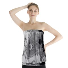 Apple Males Mandelbrot Abstract Strapless Top