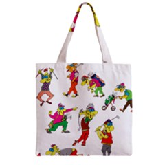 Golfers Athletes Zipper Grocery Tote Bag