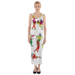 Golfers Athletes Fitted Maxi Dress