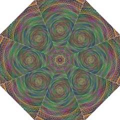 Spiral Spin Background Artwork Hook Handle Umbrellas (medium)