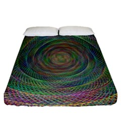 Spiral Spin Background Artwork Fitted Sheet (queen Size)