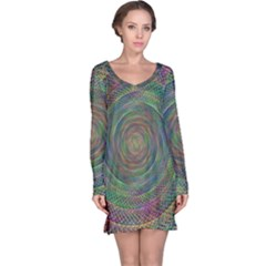 Spiral Spin Background Artwork Long Sleeve Nightdress by Nexatart