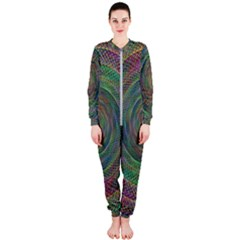 Spiral Spin Background Artwork Onepiece Jumpsuit (ladies)
