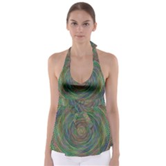 Spiral Spin Background Artwork Babydoll Tankini Top