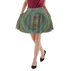 Spiral Spin Background Artwork A Line Pocket Skirt