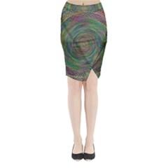 Spiral Spin Background Artwork Midi Wrap Pencil Skirt by Nexatart