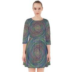 Spiral Spin Background Artwork Smock Dress