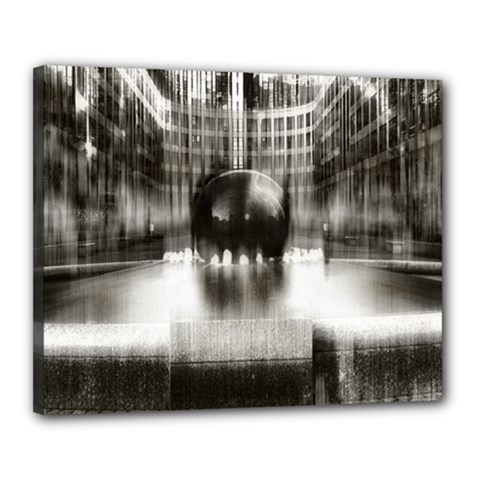 Black And White Hdr Spreebogen Canvas 20  X 16  by Nexatart