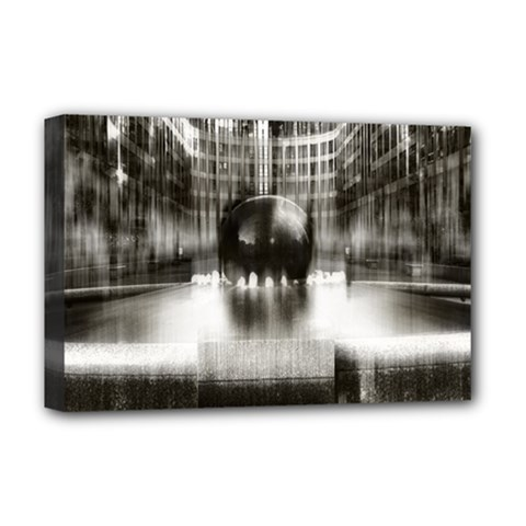 Black And White Hdr Spreebogen Deluxe Canvas 18  X 12   by Nexatart