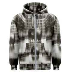 Black And White Hdr Spreebogen Men s Zipper Hoodie