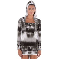 Black And White Hdr Spreebogen Long Sleeve Hooded T Shirt