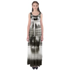 Black And White Hdr Spreebogen Empire Waist Maxi Dress