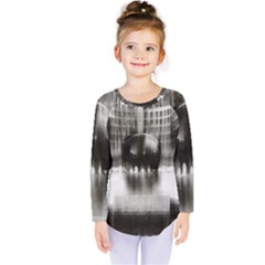 Black And White Hdr Spreebogen Kids  Long Sleeve Tee