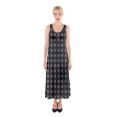 Kaleidoscope Seamless Pattern Sleeveless Maxi Dress