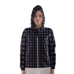 Kaleidoscope Seamless Pattern Hooded Wind Breaker (women)