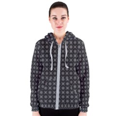 Kaleidoscope Seamless Pattern Women s Zipper Hoodie