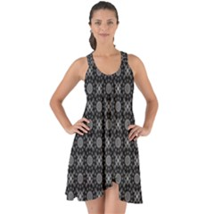 Kaleidoscope Seamless Pattern Show Some Back Chiffon Dress