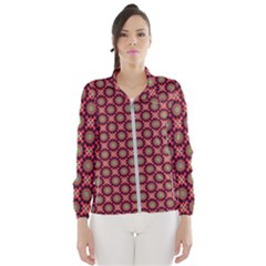 Kaleidoscope Seamless Pattern Wind Breaker (women)
