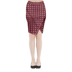 Kaleidoscope Seamless Pattern Midi Wrap Pencil Skirt