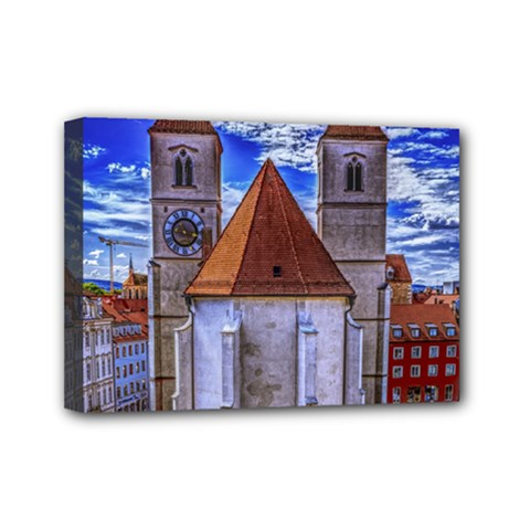 Steeple Church Building Sky Great Mini Canvas 7  X 5