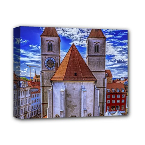 Steeple Church Building Sky Great Deluxe Canvas 14  X 11