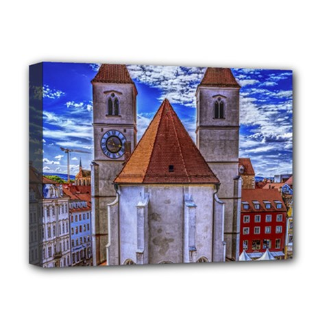 Steeple Church Building Sky Great Deluxe Canvas 16  X 12   by Nexatart