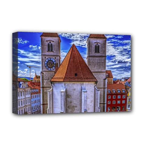 Steeple Church Building Sky Great Deluxe Canvas 18  X 12   by Nexatart