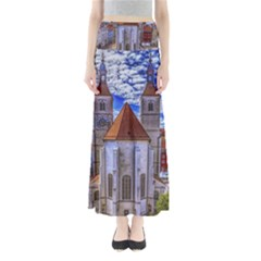 Steeple Church Building Sky Great Full Length Maxi Skirt