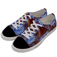 Steeple Church Building Sky Great Women s Low Top Canvas Sneakers by Nexatart