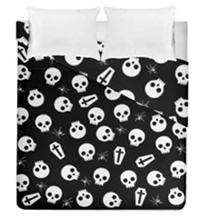 Skull, Spider And Chest    Halloween Pattern Duvet Cover Double Side (queen Size) by Valentinaart