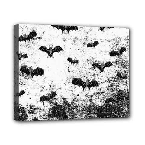 Vintage Halloween Bat Pattern Canvas 10  X 8  by Valentinaart