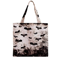 Vintage Halloween Bat Pattern Grocery Tote Bag by Valentinaart