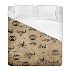 Vintage Halloween Pattern Duvet Cover (full/ Double Size) by Valentinaart