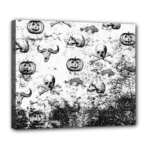 Vintage Halloween Pattern Deluxe Canvas 24  X 20   by Valentinaart