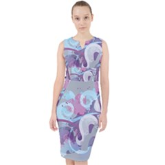 Silver Spoon Stream Wall 3840x2160 Midi Bodycon Dress