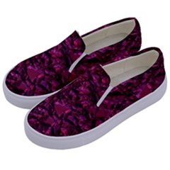 Jagged Stone 2a Kids  Canvas Slip Ons by MoreColorsinLife