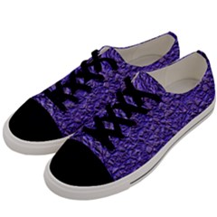 Jagged Stone Blue Men s Low Top Canvas Sneakers by MoreColorsinLife