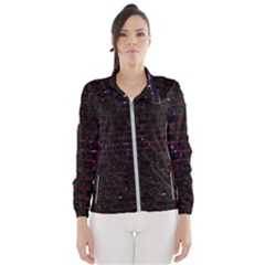 Brick1 Black Marble & Burgundy Marble Wind Breaker (women) by trendistuff