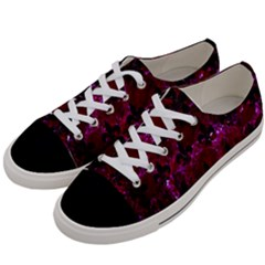 Royal1 Black Marble & Burgundy Marble Women s Low Top Canvas Sneakers by trendistuff