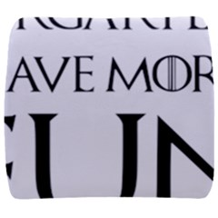 Targaryens Have More Fun   Blondes Have More Fun Black Back Support Cushion by PodArtist