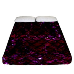 Scales1 Black Marble & Burgundy Marble (r)ack Marble & Burgundy Marble (r) Fitted Sheet (california King Size) by trendistuff