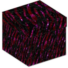 Skin3 Black Marble & Burgundy Marble Storage Stool 12   by trendistuff